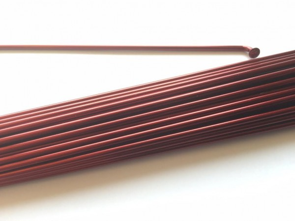 Rayon 2.0 x 260 bordeaux métallisé