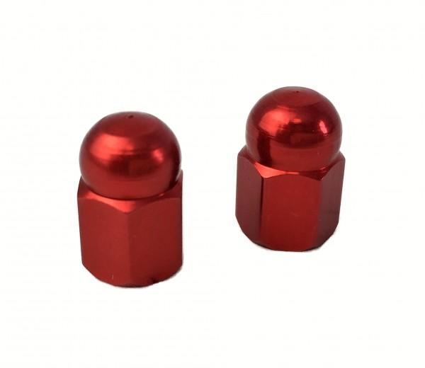 Bouchons de valve écrou borgne, rouge