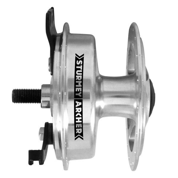 Sturmey Archer Moyeu roue avant avec frein à tambour 70 mm et logement d'essieu un côté gauche
