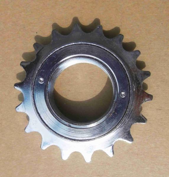 Pignon roue libre, 19 dents, chrome