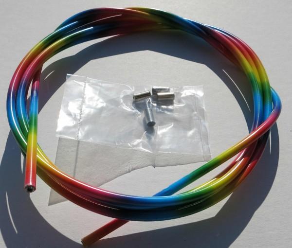 Sortie câble Bowden, arc-en-ciel, 2,50m x 5mm