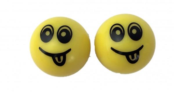 Bouchons de valve Smiley jaune