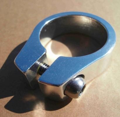 Collier de selle, 34,9mm aluminium poli