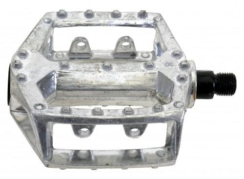 Pédale, aluminium, argent, 1/2''