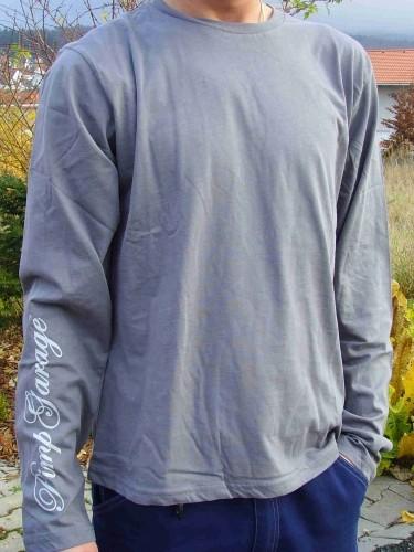 T-Shirt gris à longues manches