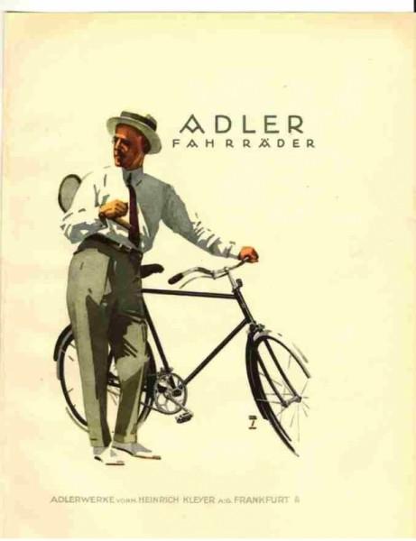 Adler carte postale Fahrrad-Werke