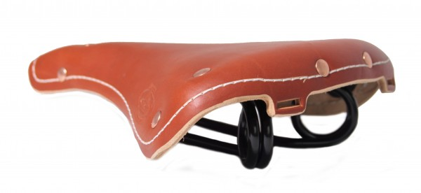 Selle en cuir vintage Oxford Club, cognac
