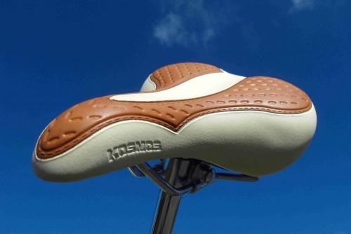 Selle Touring 2008 look vintage, bicolore crème-brun