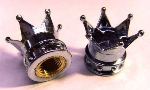 Bouchons de valve couronne, chromé
