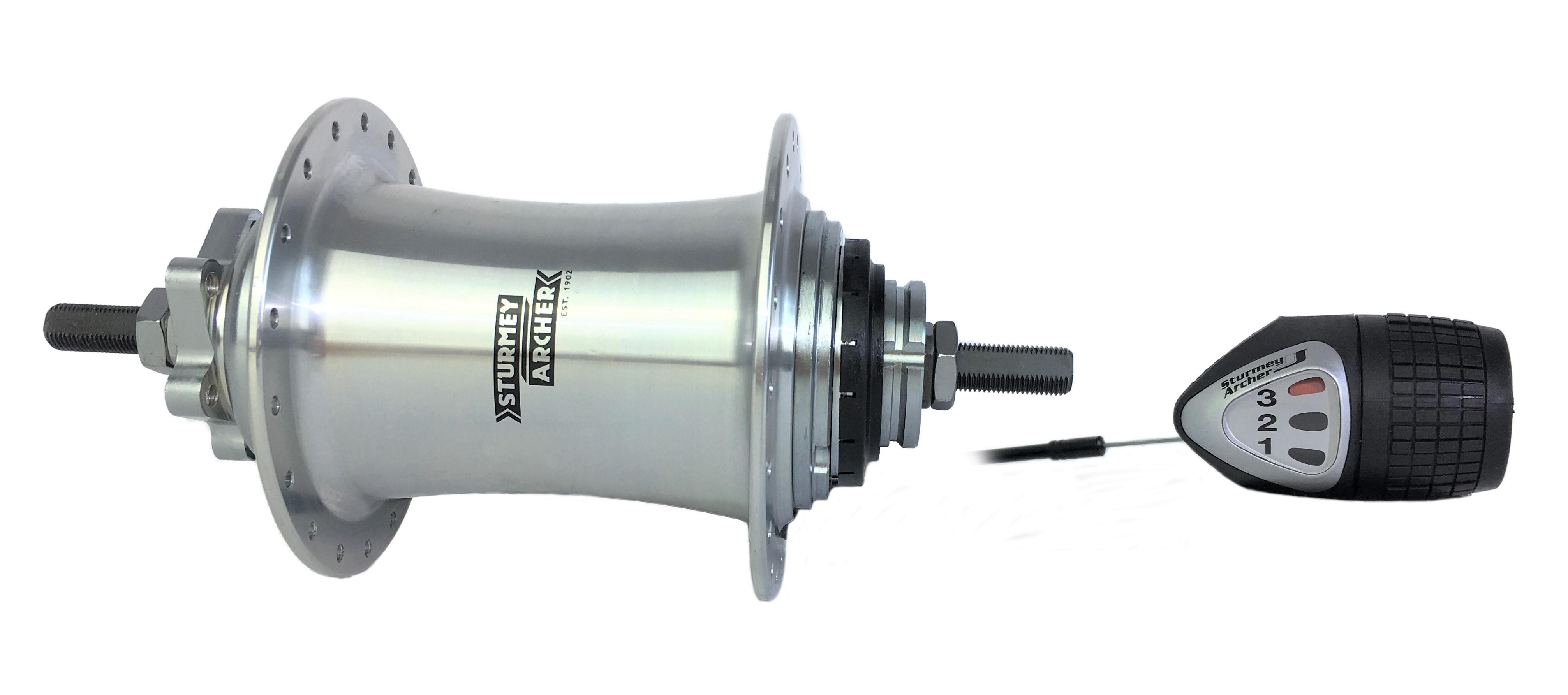 Paire de Sturmey Archer 3//8 en Forme de Dôme Essieu Noix Pour HUB Gear Essieu Vélo