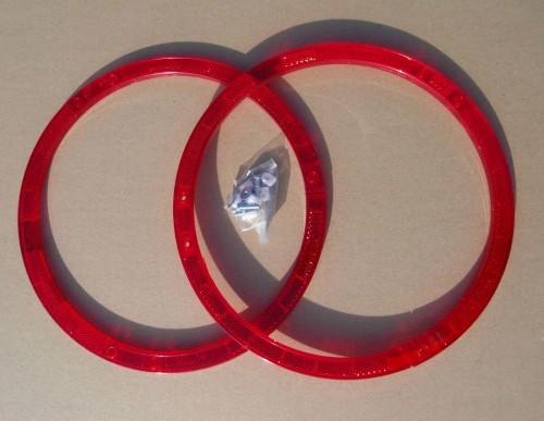 Réflecteurs pour rayons, cercles, rouge