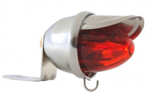 Feu arrière LED Baby Bee, rouge, chromé*