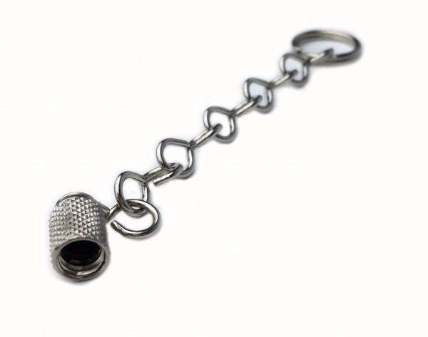 Bouchons de valve en métal avec chaînette