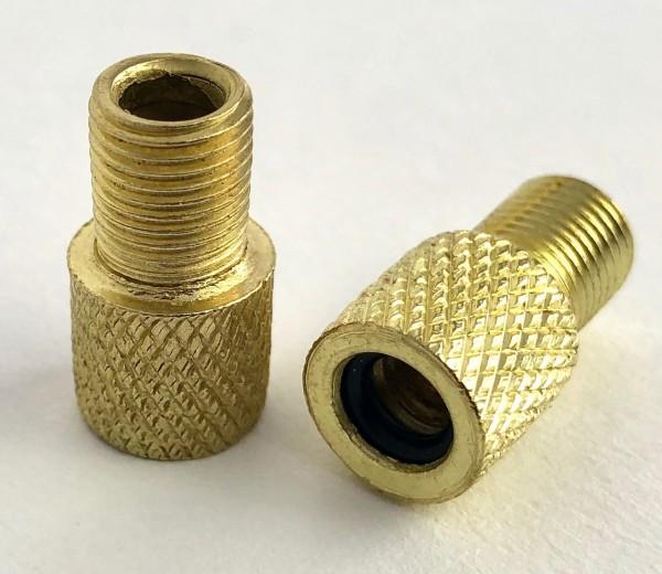 Adaptateur bouchons de valve, laiton 1 paire