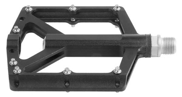 Pédale plate, aluminium CNC, noir, 9/16