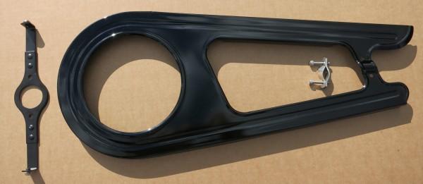 Protection chaine à 2-vantaux classique, acier noir, 26/28 pouces, 46 dents