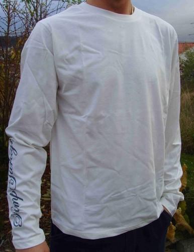 T-Shirt ivoire à longues manches