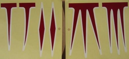 Sticker Set pour cadres Cruiser, rouge / blanc