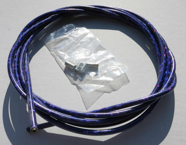 Sortie câble Bowden, violet brillant métallisé, 2,50m x 5mm