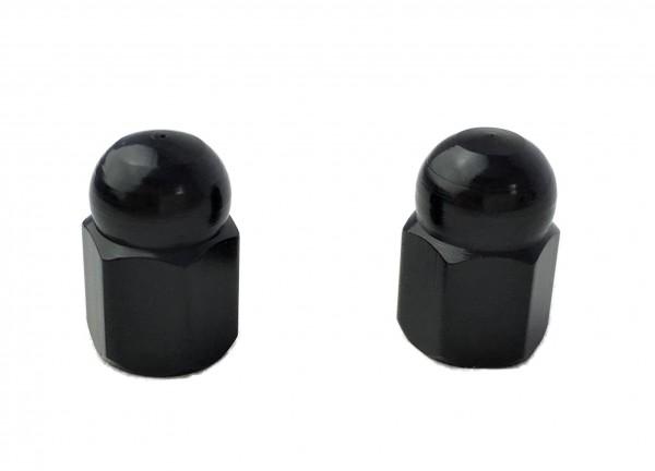 Bouchons de valve écrou borgne, noir