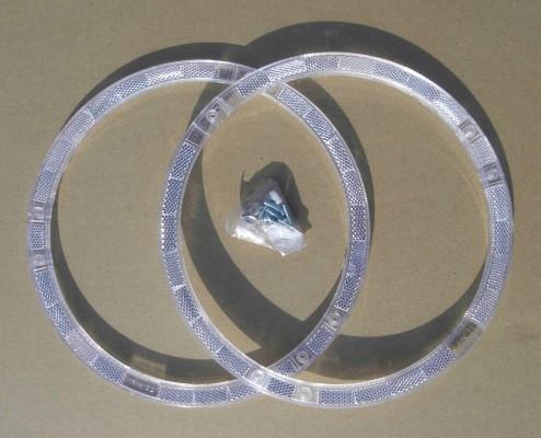 Réflecteurs pour rayons, cercles, blanc