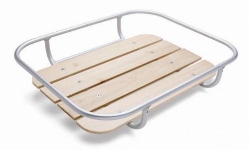 Porte-bagage avant universel en aluminium et en bois
